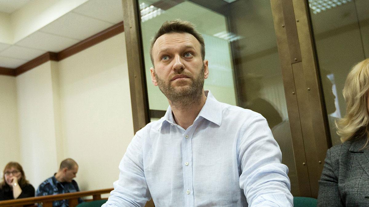 Алексей Навальный в зале суда приговор