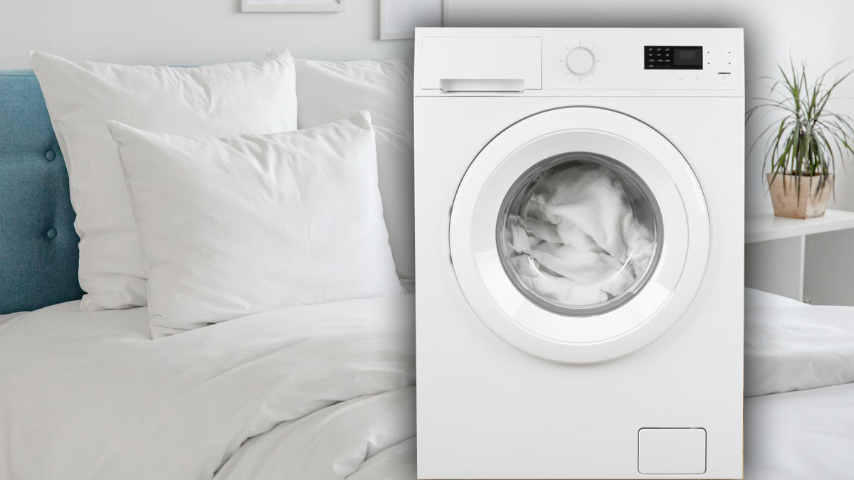 постель постельное белье стирка стиральная машина
