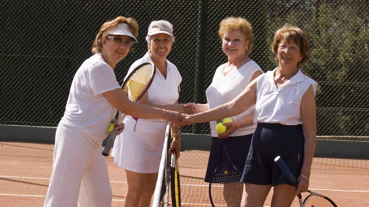 теннис пожилые люди tennis seniors