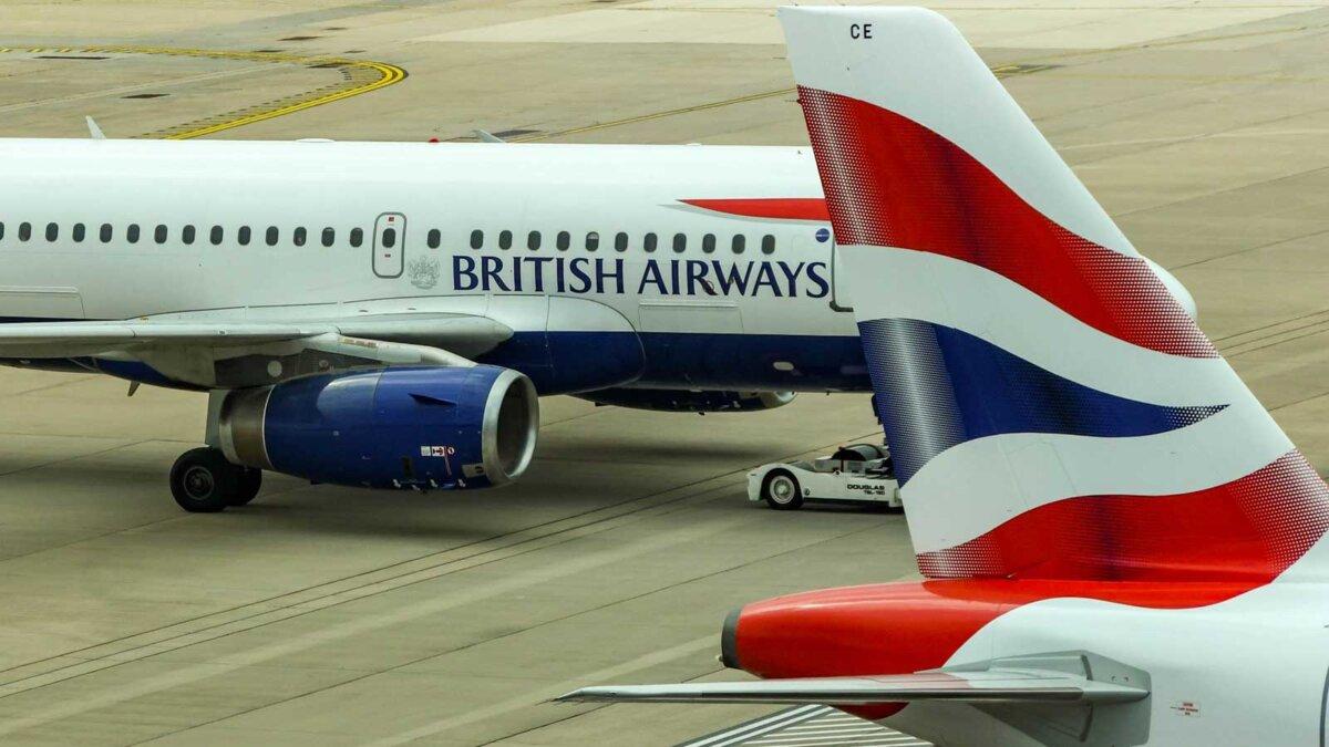the plane England Самолет Великобритания British Air