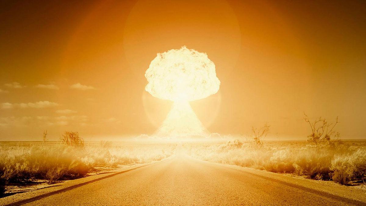 ядерный взрыв гриб атомная бомба дорога