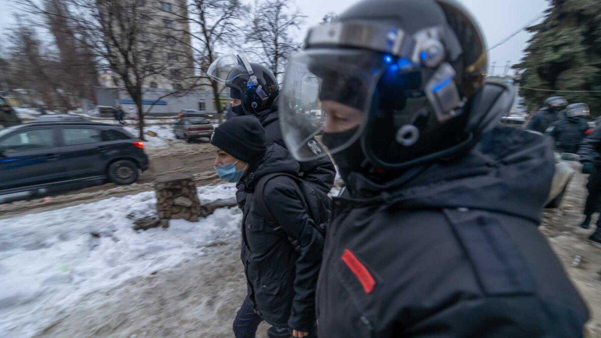задержание митингующих Москва