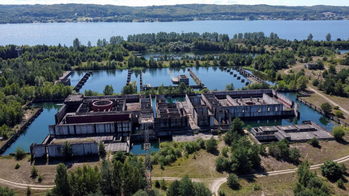 недостроенная АЭС Жарновец в Польше