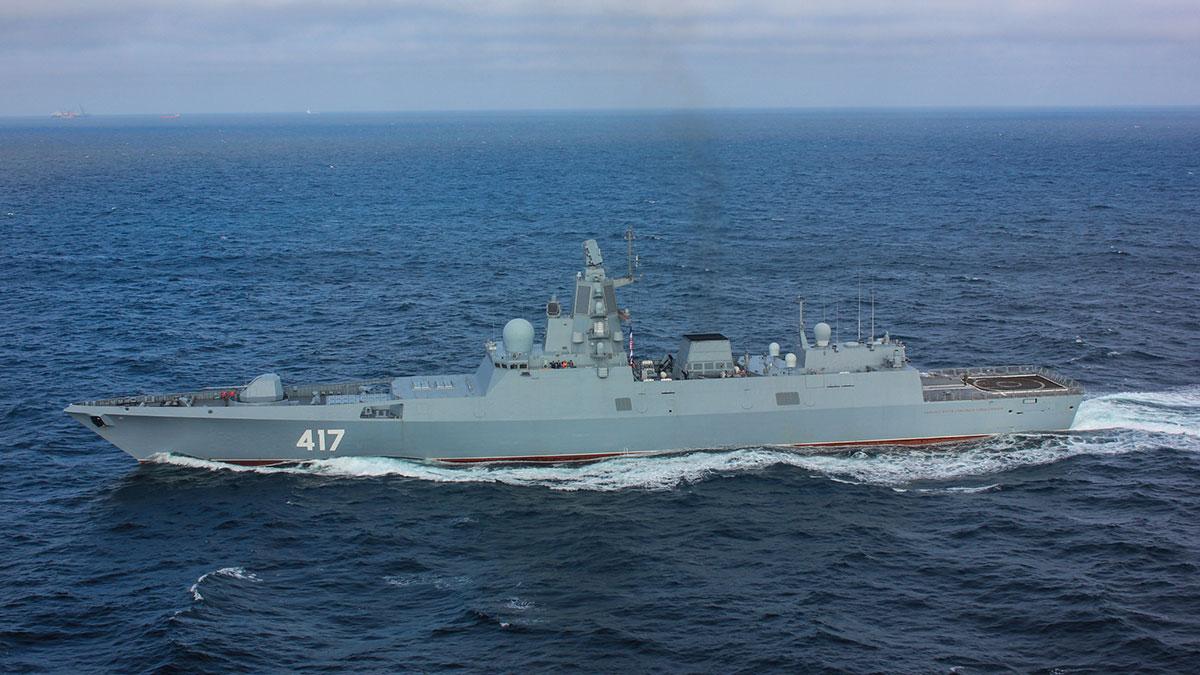 Адмирал флота Советского Союза Горшков в море