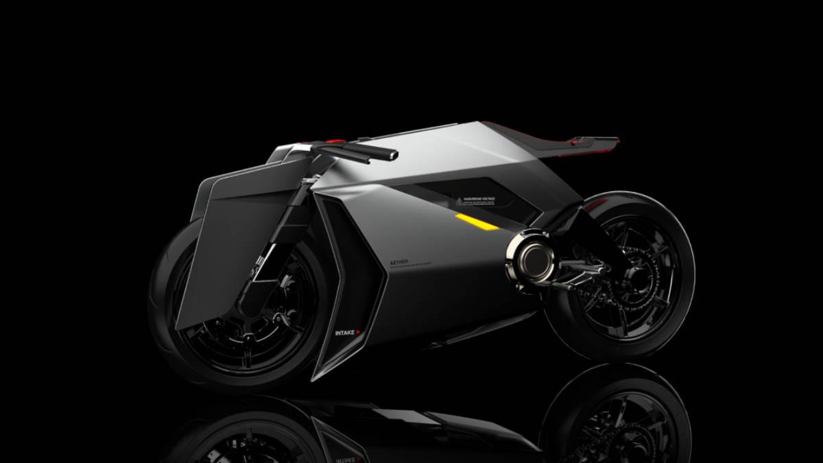 Концепт электрический мотоцикл Aether
