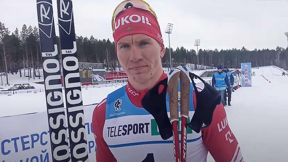 Александр Большунов Российский лыжник