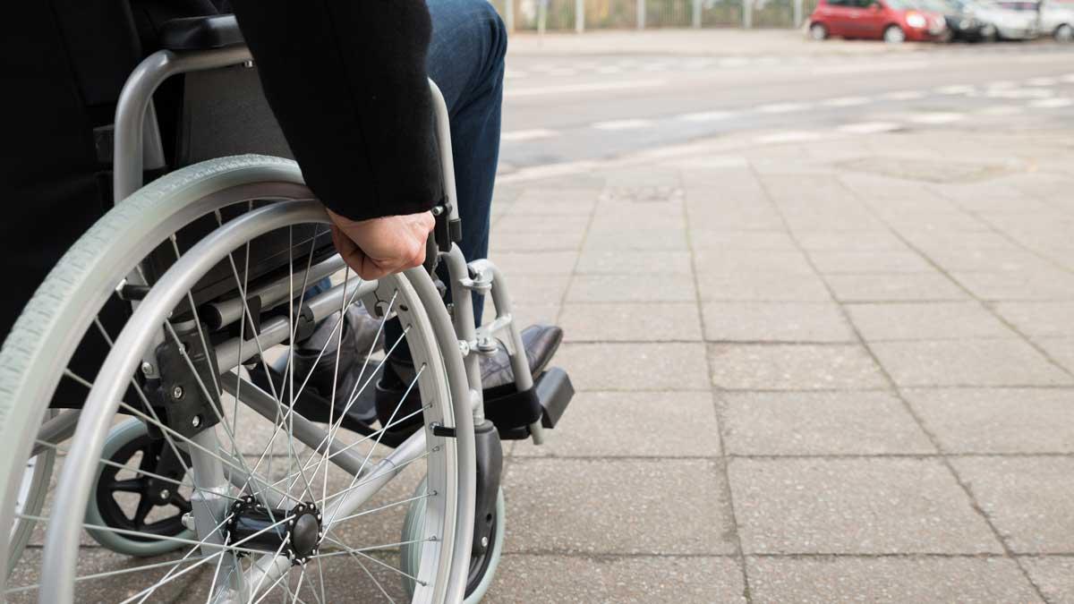 Человек инвалидная коляска дорога