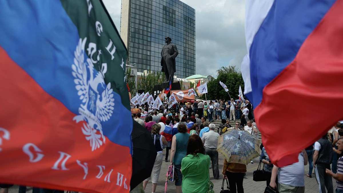 Донецк Крым флаги Россия люди