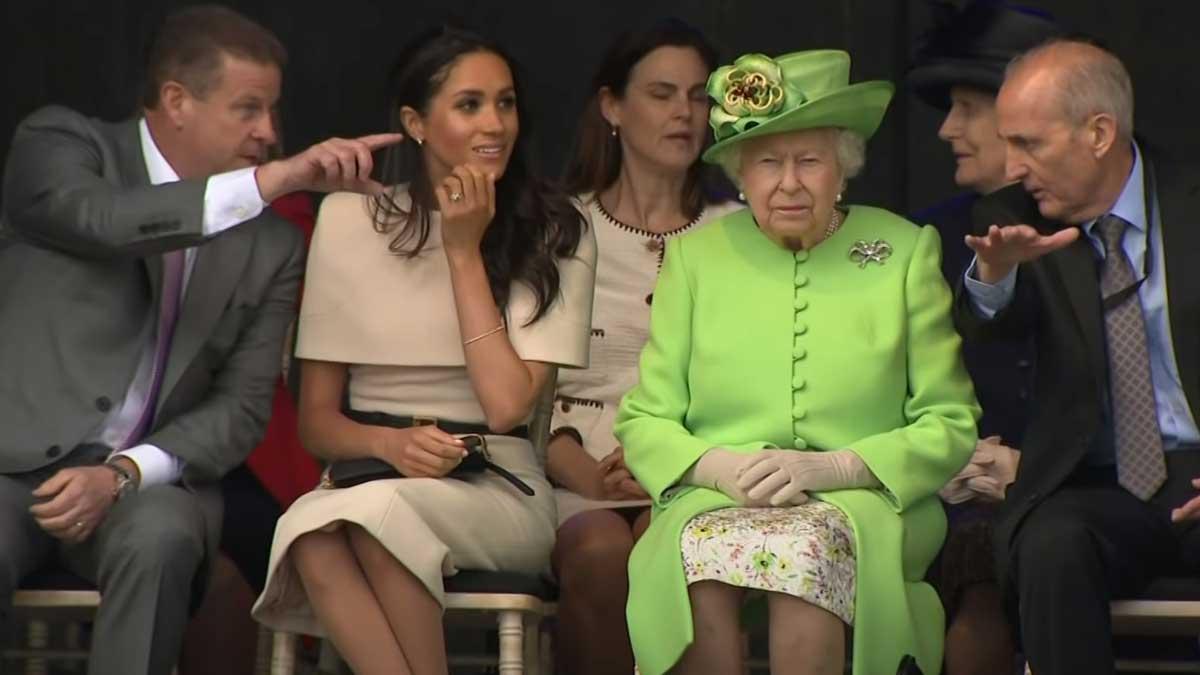 Королева и Меган Маркл