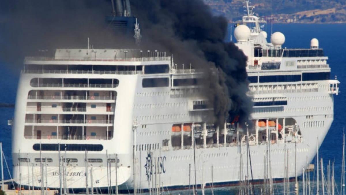 пожар на круизном лайнере MSC Lirica