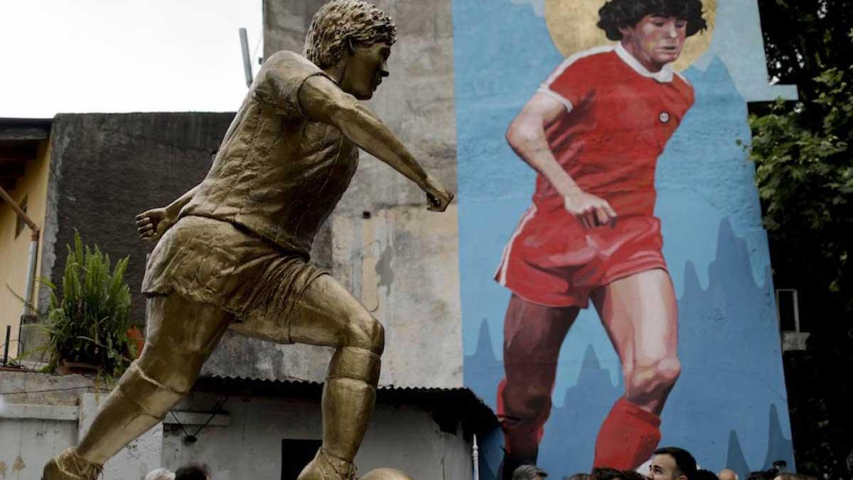 Maradona Monument памятник Марадона