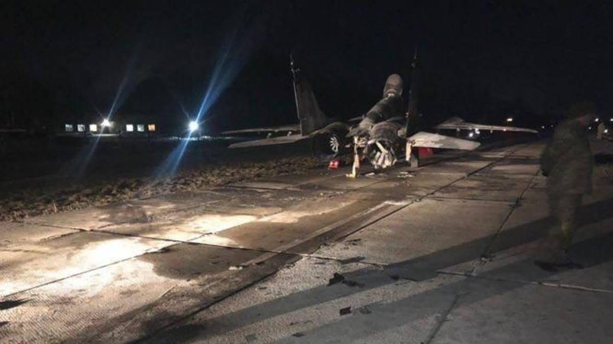 На Украине пьяный военный протаранил МиГ-29