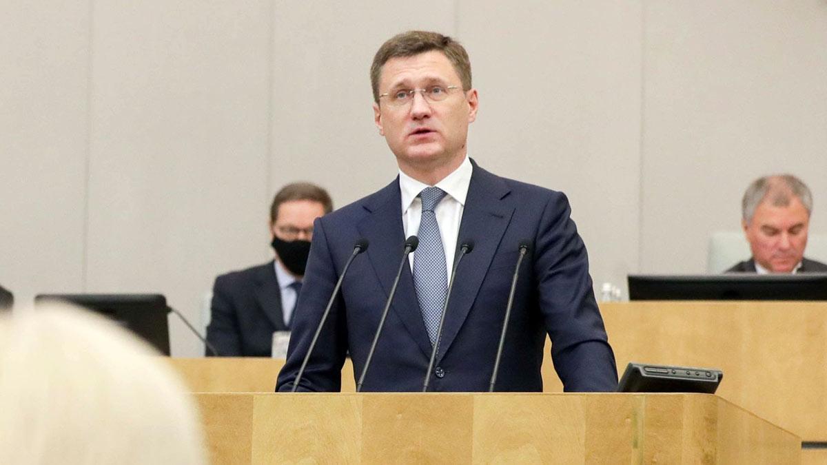 Министр энергетики РФ Александр Новак во время пленарного заседания Госдумы