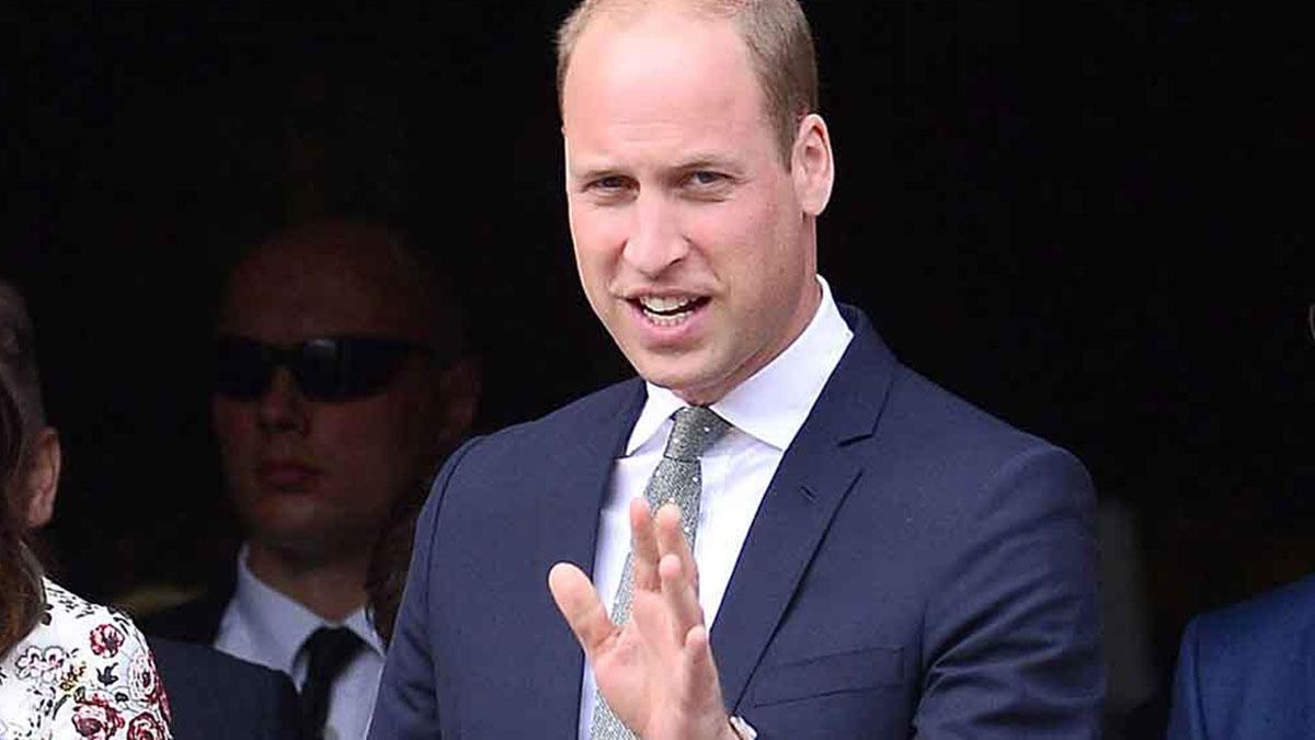 Герцог Кембриджский принц Уильям крупный план говорит