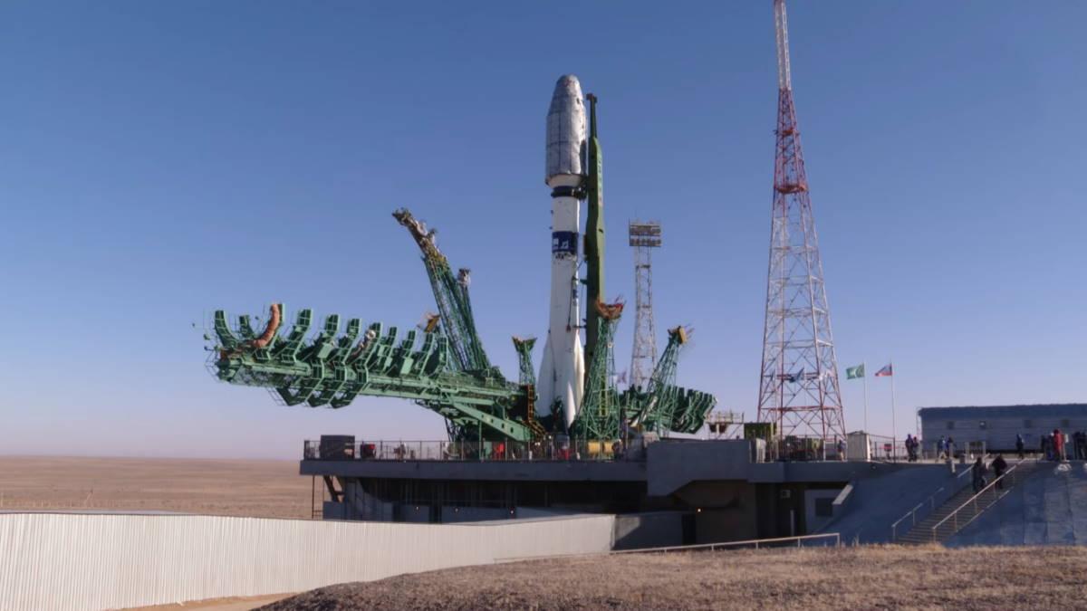 Ракета-носитель Союз-2 1а на космодроме Байконур