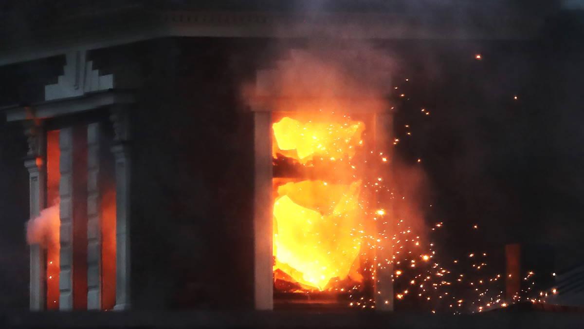 частный дом пожар