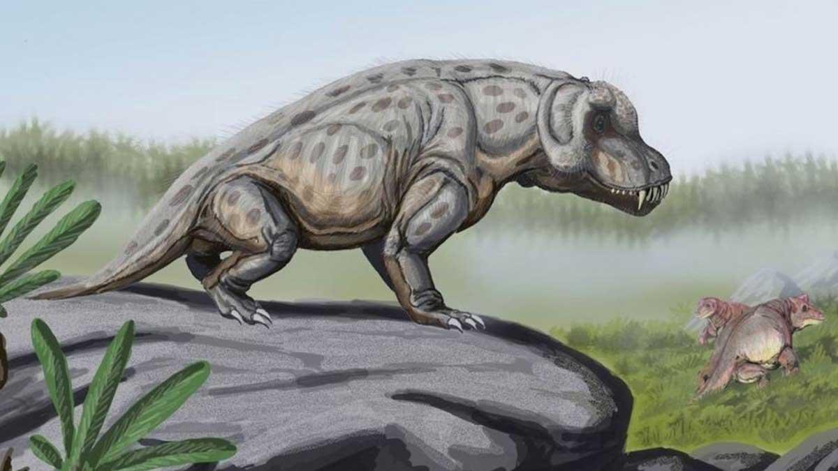 Терапсиды Пермского периода антиозавр