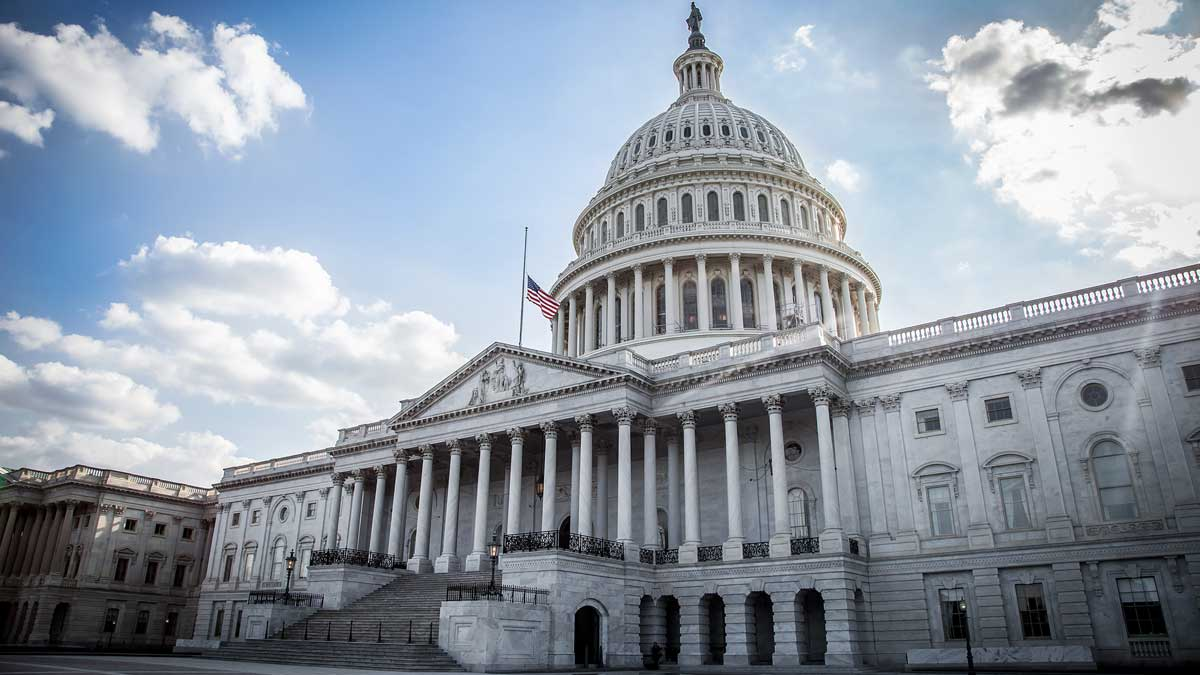 Здание Капитолий в Вашингтоне