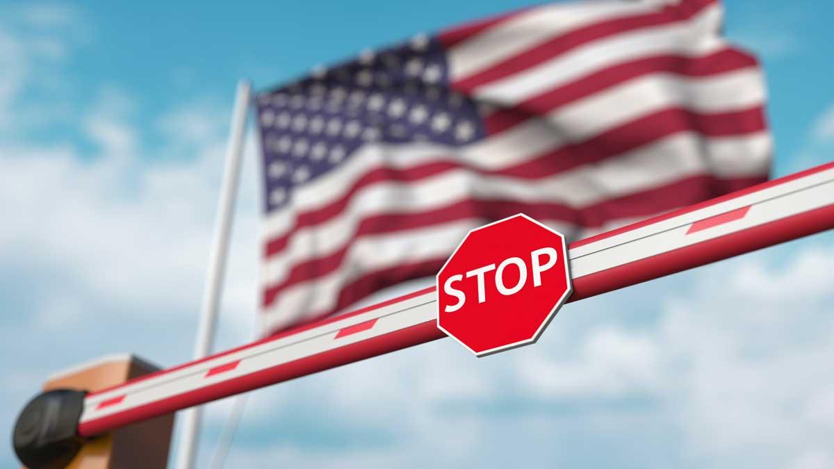 US flag stop sign флаг сша знак стоп