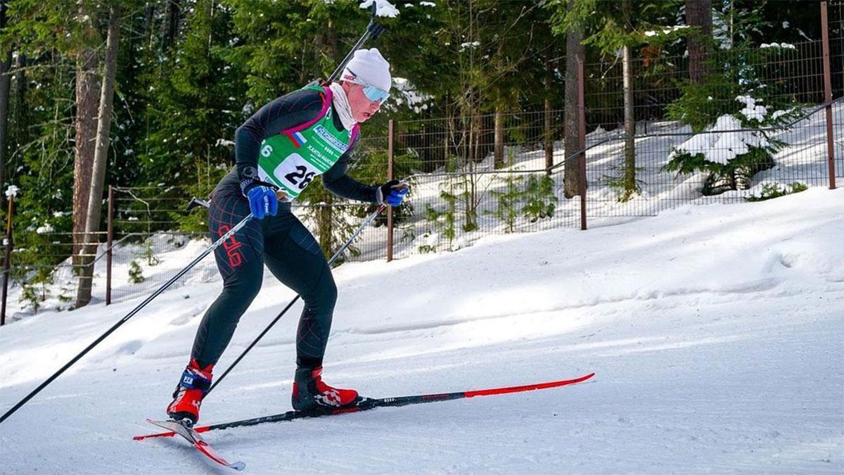 Российская биатлонистка Наталья Ушкина