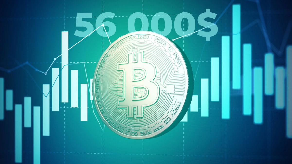 bitcoin биткоин 56 тысяч