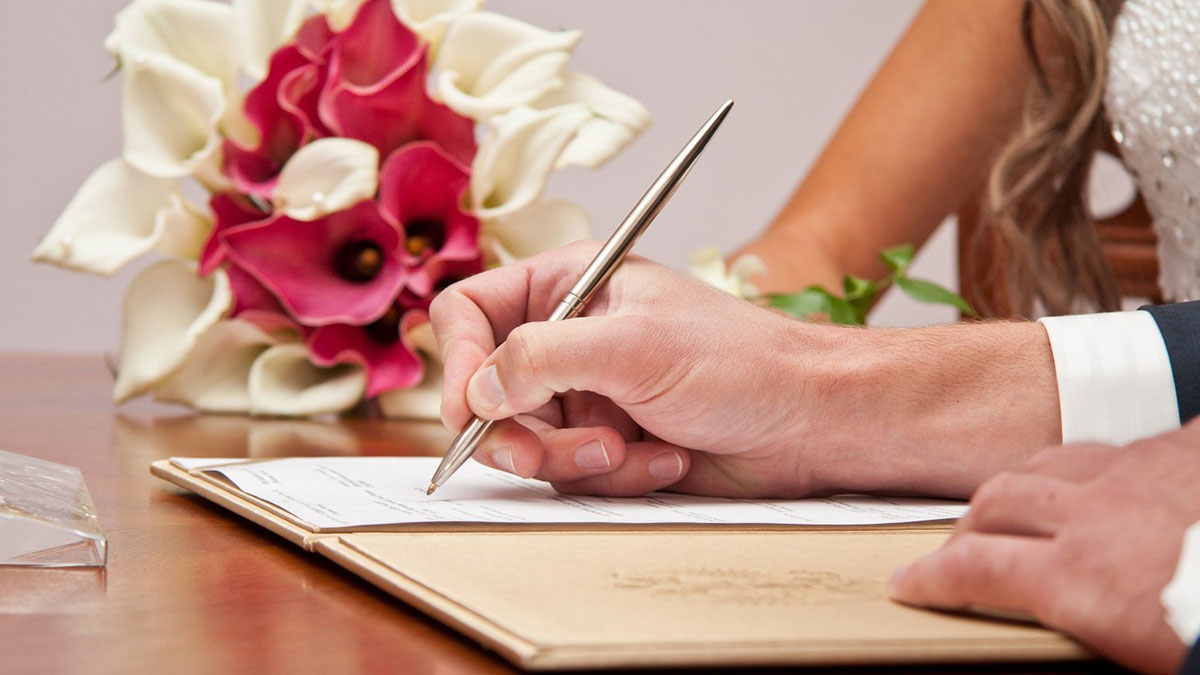 брак свадьба подписи свидетельство