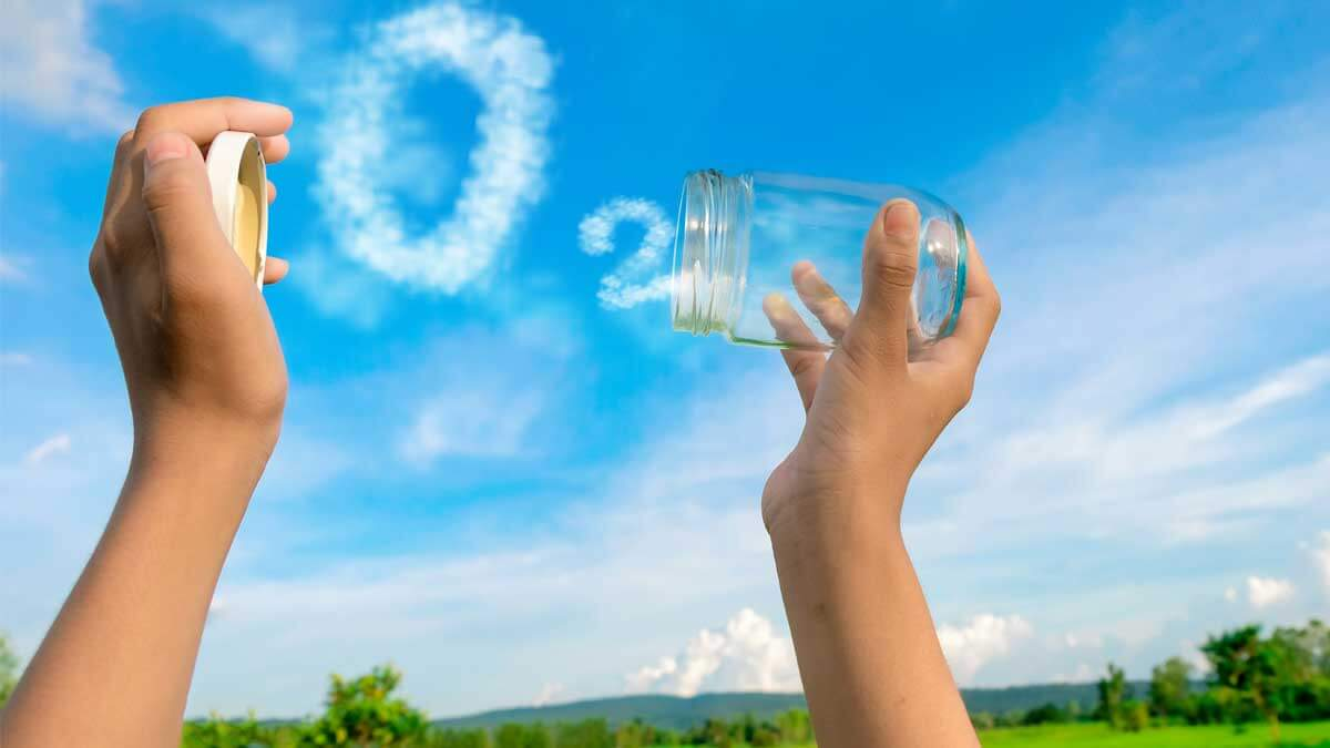 бутылка воздух кислород поле