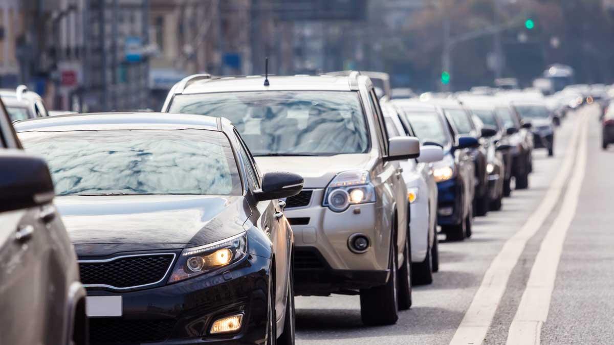 город автомобили пробка