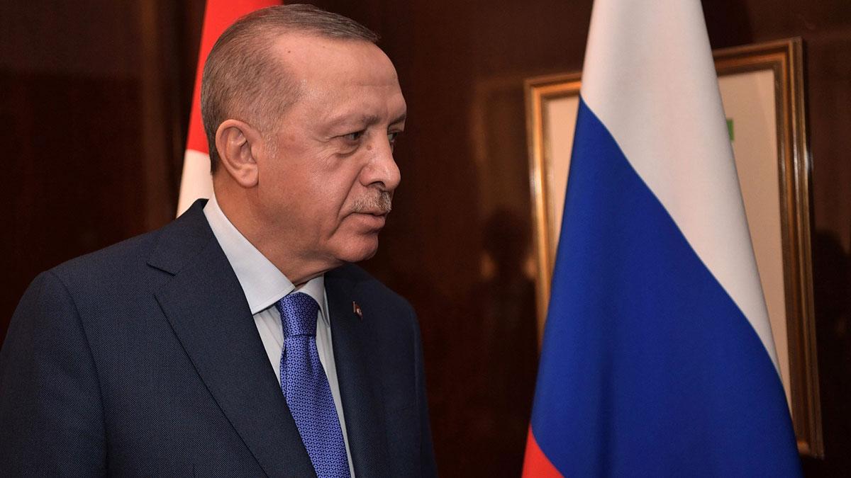 Реджеп Тайип Эрдоган президент Турции российский флаг