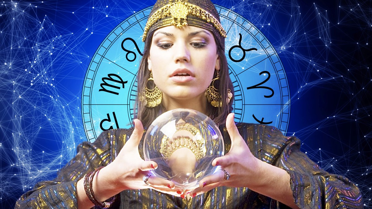 гадалка с шаром и гороскоп