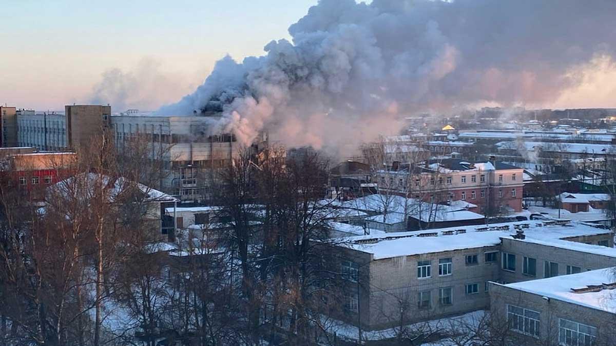 горение в здании в Коврове