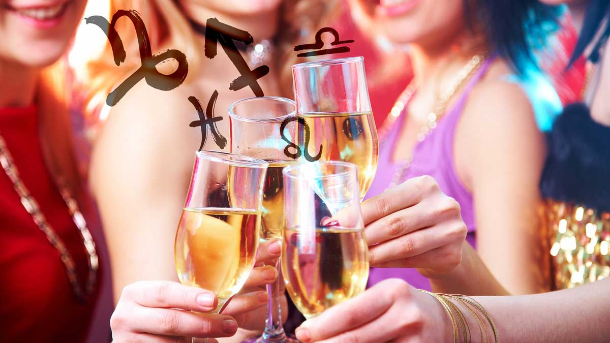 horoscope alcohol девушки бокалы