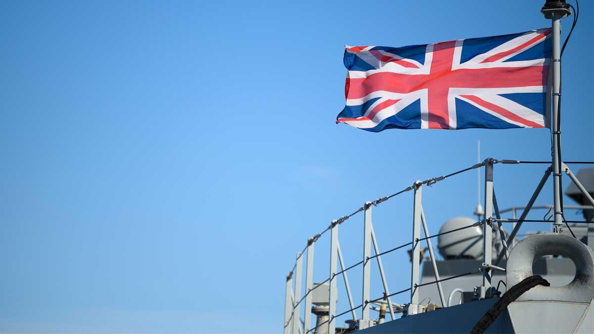 корабль флаг Британии British Navy