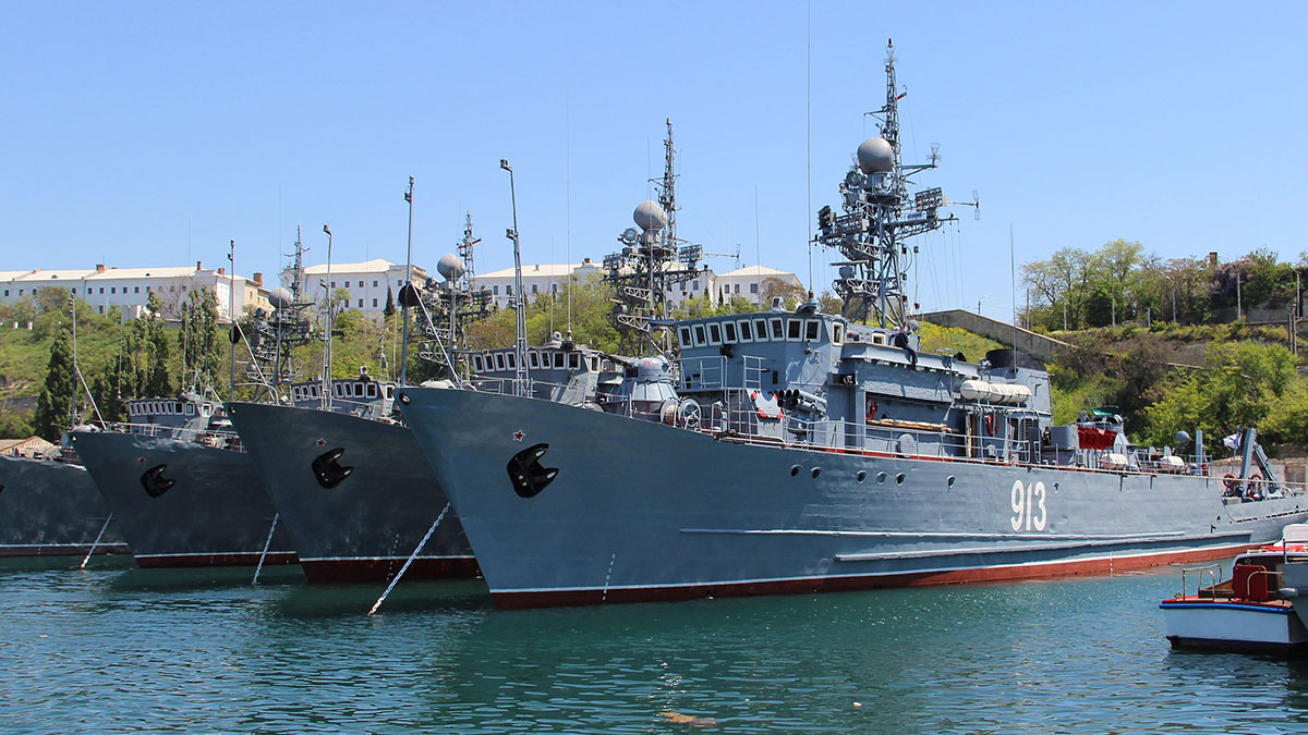 корабли Черноморского флота в Крыму 418 дивизион тральщиков 68-ой бригады