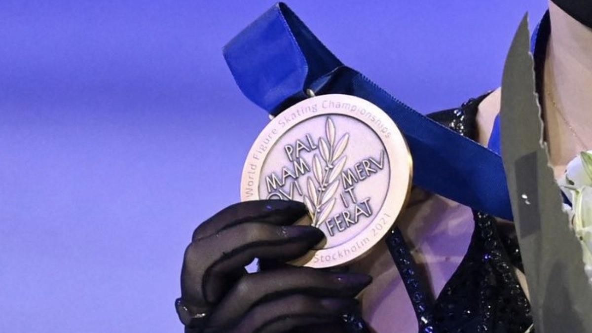 медаль чемпионата мира по фигурному катанию