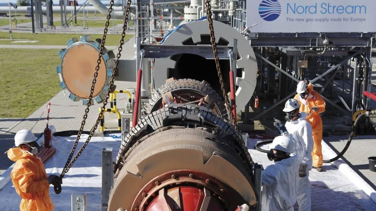 монтаж наземного оборудования Северного потока