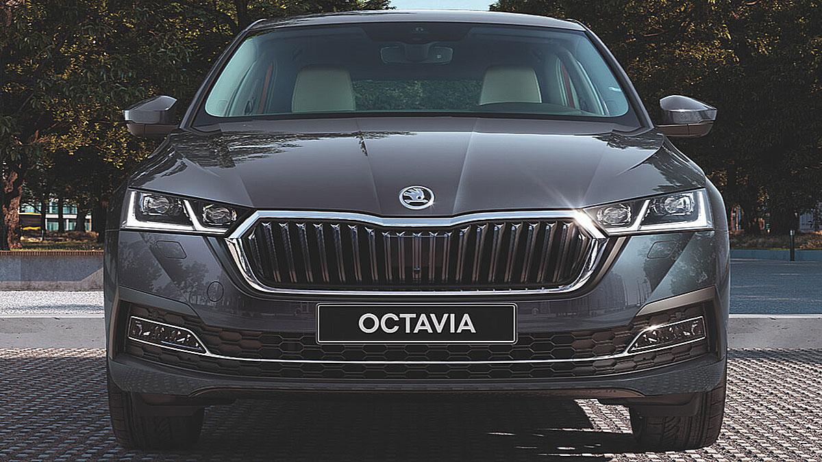 Skoda Octavia 2021 шкода вид спереди