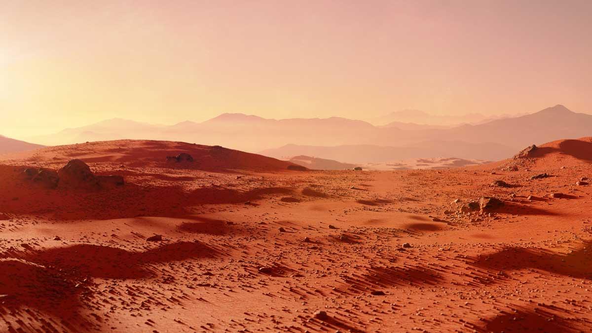 пейзаж на планете Марс