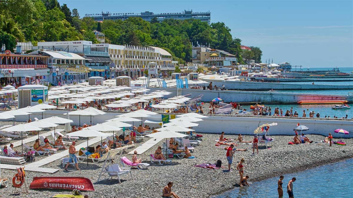 resort пляж Сочи люди