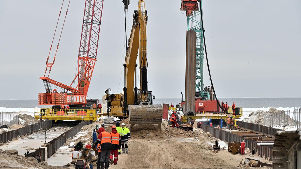 строительство северного потока 2 установка коффердама