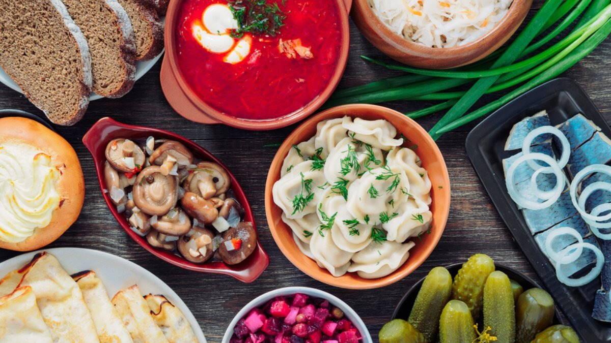 Стол еда пища застолье русская кухня