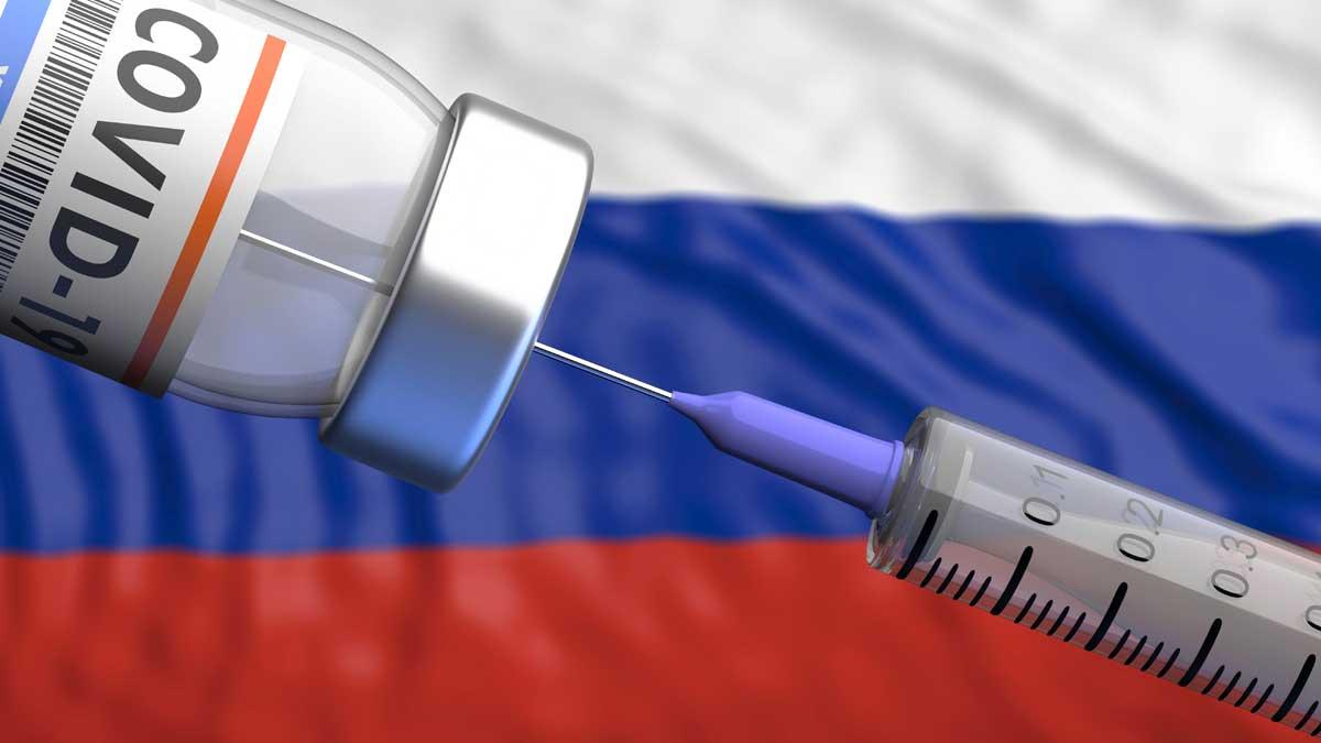 вакцина шприц флаг России
