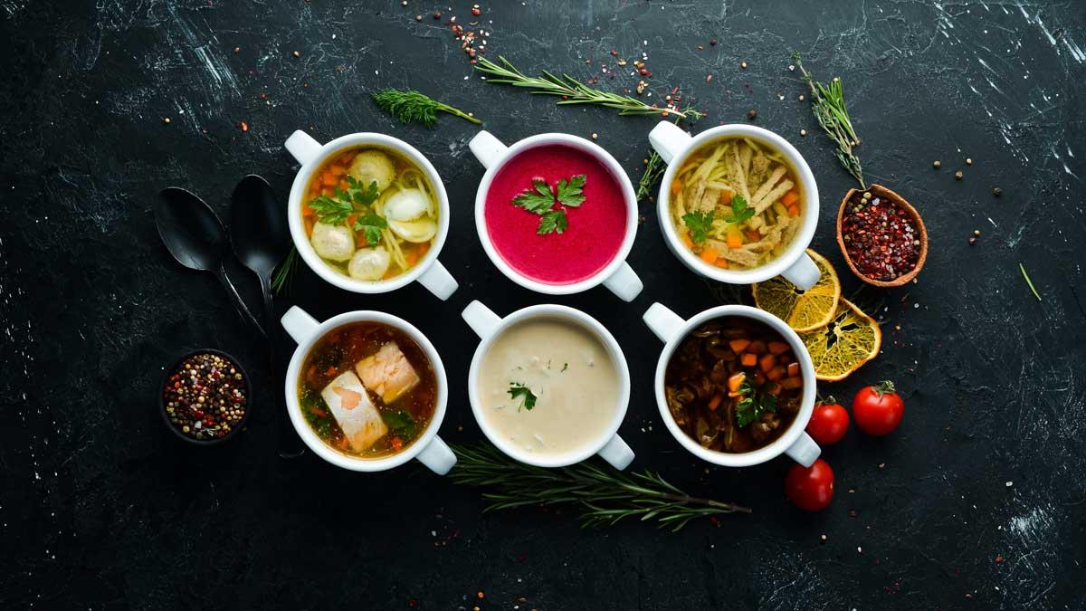 супы ложки стол посуда
