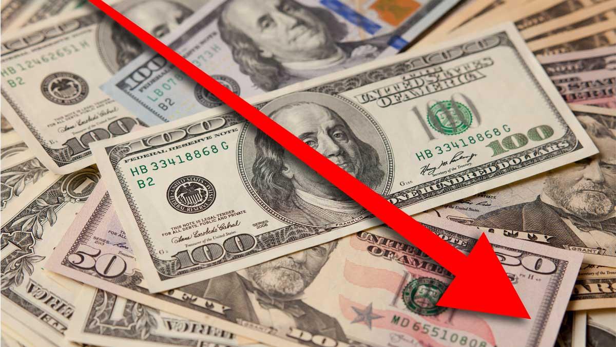 доллары обвал вниз стрелка
