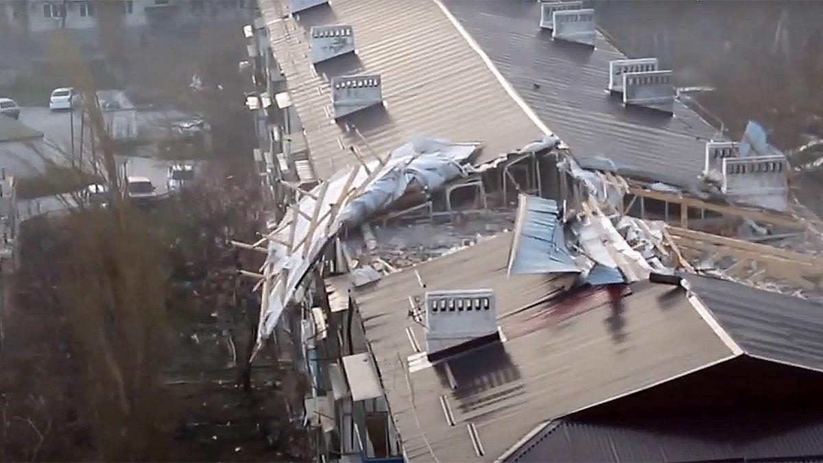 ураган в Новороссийске март 2021