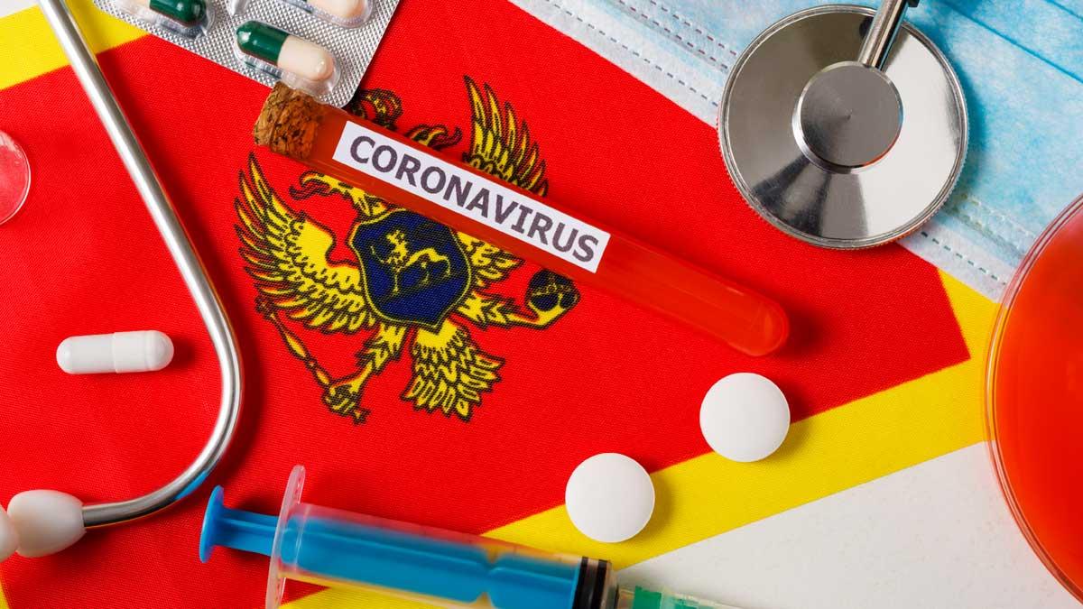 вакцина флаг Черногория