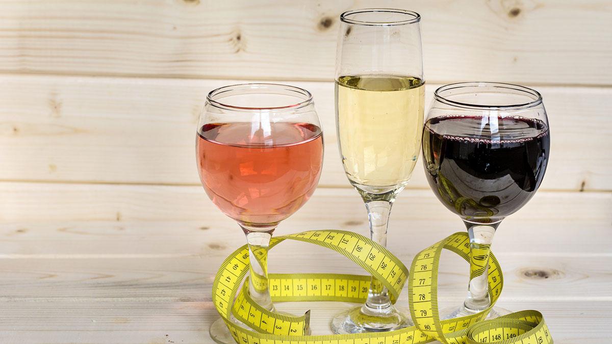 алкоголь вино диета бокалы