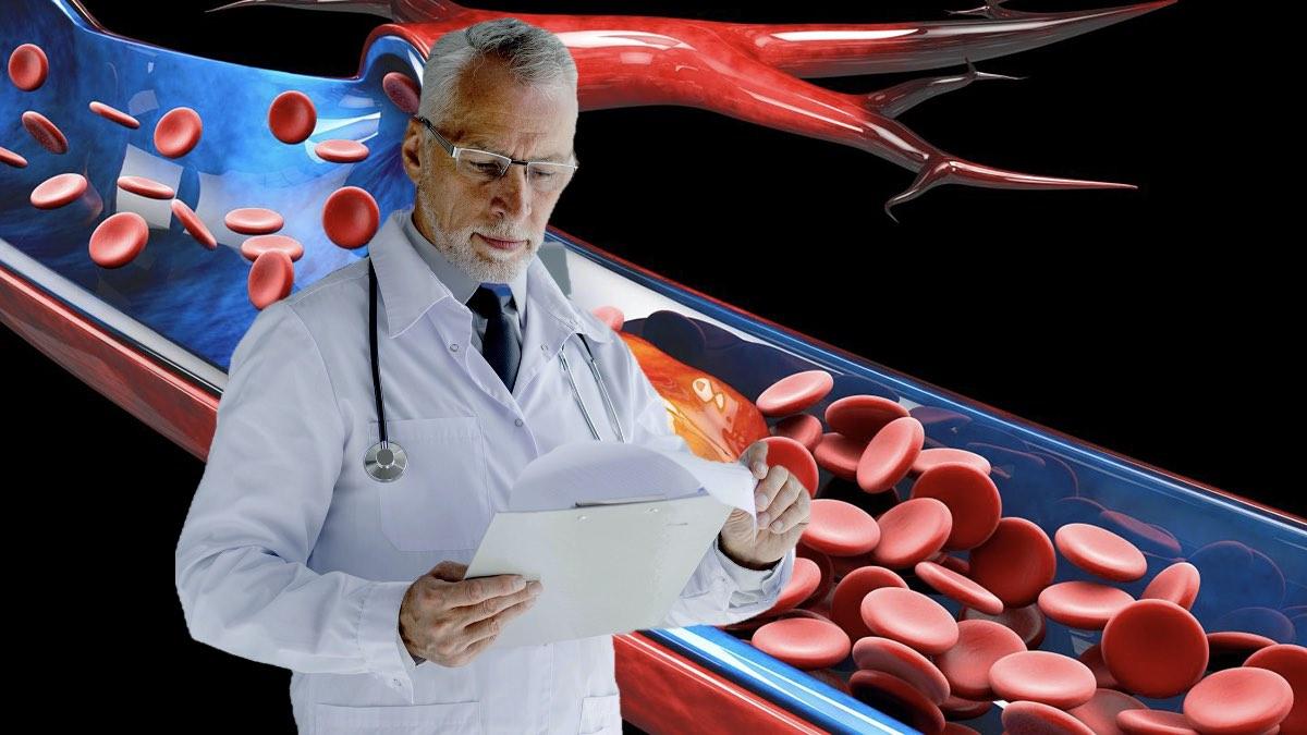 врач и схема тромбов
