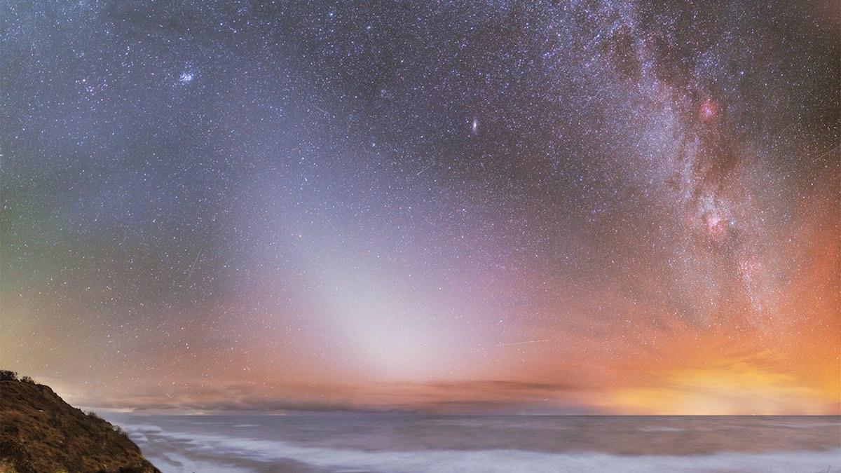 зодиакальный свет звезды небо