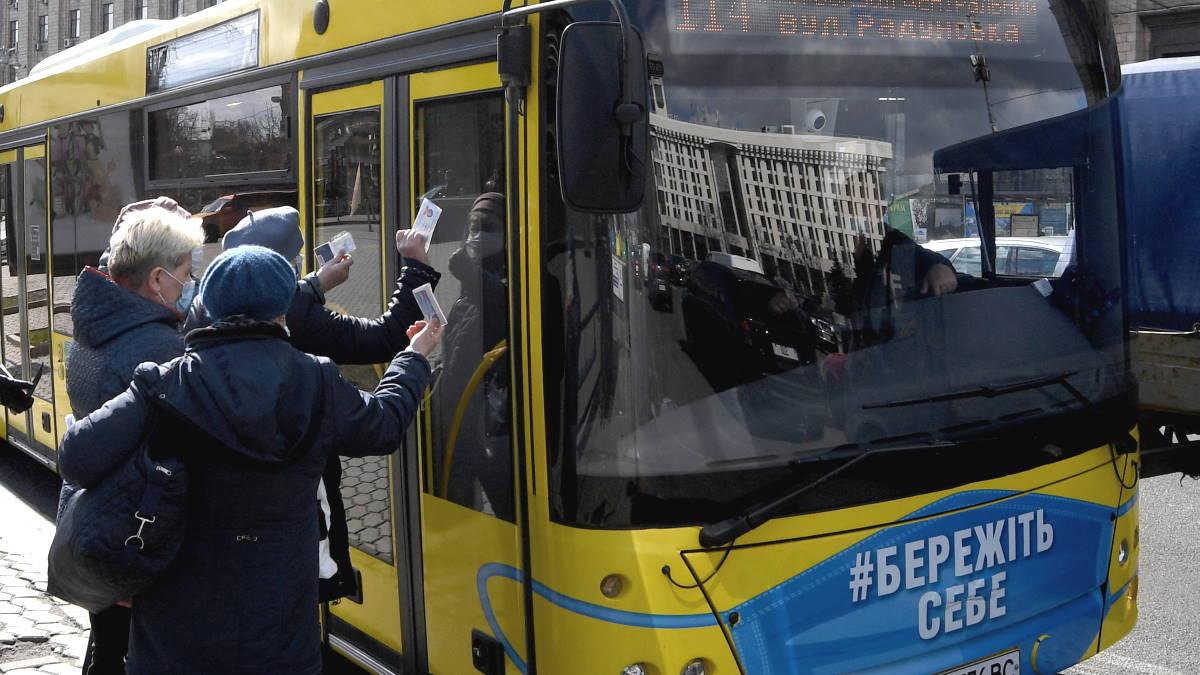 Киев коронавирус автобус спецпропуск